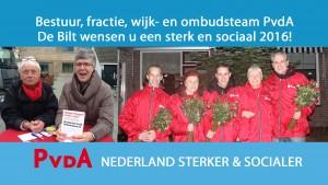PvdA De Bilt Nieuwjaarswens 2016